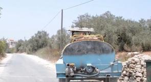 """خاص لـ """"وطن"""" بالفيديو ..  طولكرم : أهالي """"بلعا"""" قد يهجروها لشح المياه"""