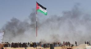 أعلام فلسطين تطل على الأراضي المحتلة عام 48
