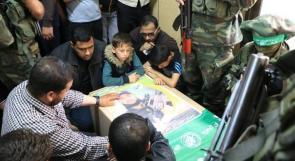 في وداع الشهيد القسامي وسام ابو محروق