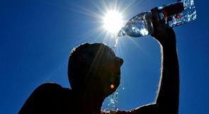 درجة الحرارة اعلى من معدلها السنوي بخمس درجات