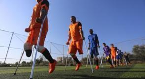 أبطال على عكازات: فريق كرة قدم مبتور الأرجل في غزة