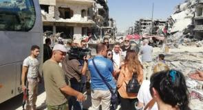 وفد برلماني ايرلندي يزور مخيم اليرموك