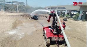 """مهندسون من غزة يبتكرون """"روبوت"""" للتعامل مع الحرائق ومخلفات الاحتلال"""
