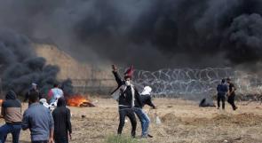 """""""السياج الفاصل"""" .. لعبة الشباب الثائر بغزة"""