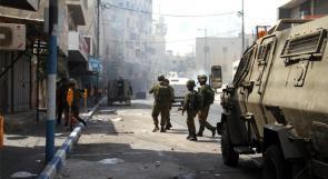 عشرات حالات الاختناق خلال مواجهات مع الاحتلال في باب الزاوية وسط الخليل