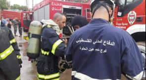 الدفاع المدني الفلسطيني في مخيمات بيروت وصيدا يشارك في عملية إخماد الحرائق