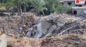 انتهى العدوان ولكن آثاره مستمرة.. مستودع للأسمدة الزراعية يشكل مصدر قلق لسكان بيت لاهيا