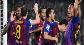 ثلاثية لبرشلونة مقابل هدف لخيخون