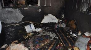 عبث الأطفال يتسبب بحريق منزل في طولكرم