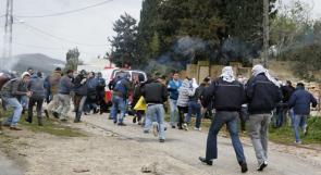 اصابات بالاختناق في مسيرة كفر قدوم