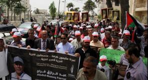 """""""العمل الزراعي"""" ينظم مسيرة تضامنا مع الأسرى المضربين عن الطعام"""