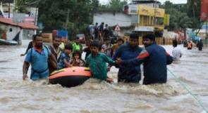عدد ضحايا الفيضانات التي اجتاحت ولاية كيرالا جنوب الهند تخطى 400 قتيل