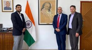وفد من المؤسسة الفلسطينية للإقراض الزراعي يلتقي السفير الهندي لدى دولة فلسطين