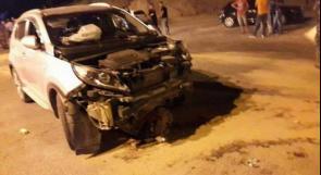 اصابة امرأة في حادث سير في مجد الكروم