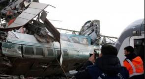 تركيا: قتلى وجرحي في حادث قطار سريع بأنقرة