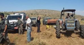 الاحتلال يستولي على جرار زراعي في منطقة عين الحلوة بالأغوار