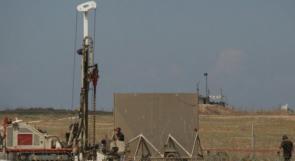 """الاحتلال يعلن اتمام بناء ربع مسافة """"الجدار الجوفي"""" مع غزة"""
