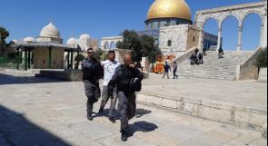 الاحتلال يعتقل  الحارس عبد الكريم قاعود في الأقصى