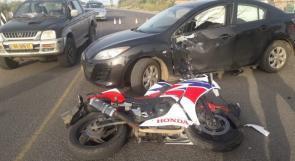 إصابة خطيرة لشاب بحادث سير في عرابة البطوف
