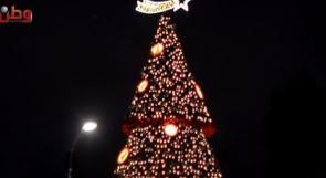 رام الله تحتفل بإضاءة شجرة الميلاد