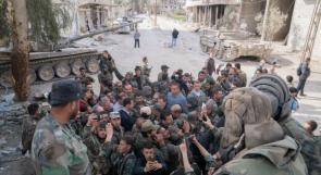 صور.. الأسد في الغوطة الشرقية!