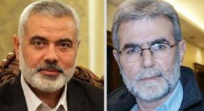 النخالة يهاتف هنية ويبحثان التصعيد بغزة