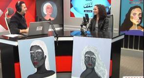 """جنى.. شغفها بالرسم جعلها تقضي 9 ساعات متواصلة من أجل رسم لوحة.. وتأمل دراسة """"العلاج النفسي بالرسم"""" مستقبلا"""