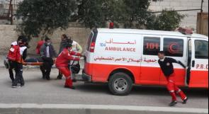7 إصابات بينها طفلان في حادث سير غرب نابلس