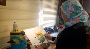 """خاص لـ""""وطن"""" بالفيديو  .. نابلس:  كفاح تحيل الكعك لأشكال رسوم متحركة تبهج الأطفال في أعيادهم"""