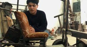 في غزة.. الفتى أنس يصنع سيارة صديقة للبيئة!