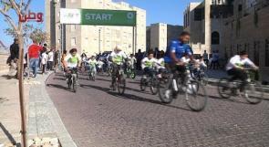 """أكثر من 200 متسابق يتنافسون في """"مارثون"""" الدراجات الهوائية الذي أقامته روابي ... """" الرياضة نمط حياة مستمر"""""""