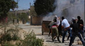 إصابة 7 مواطنين بينهم صحفي بالرصاص المعدني والعشرات بالاختناق في مسيرة كفر قدوم الأسبوعية