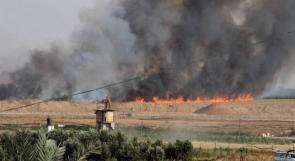 5 حرائق في غلاف غزة بفعل طائرات ورقية حارقة