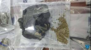 ضبط 723 بذرة ماريجوانا ومواد يشتبه أنها مخدرة بحوزة شخص في طولكرم
