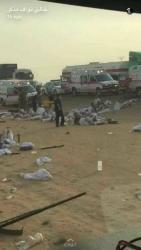 قتلى ومصابون بعد انقلاب حافلتين للمعتمرين بين مكة والمدينة