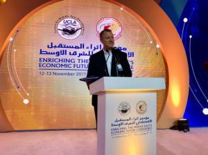 عضو كنيست سابق، متحدث رئيسي في مؤتمر اقتصادي في قطر