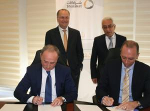 """توقيع اتفاقية بين """"شراكات"""" واتحاد الغرف التجارية الصناعية الزراعية الفلسطينية"""