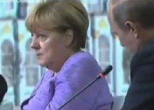 بالفيديو ..بوتين يحدث ميركل عن مثل شعبي