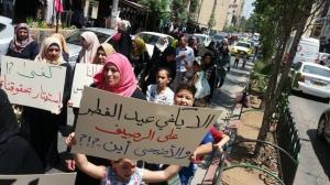 اسرى ومحررين مقطوعة رواتبهم يواصلون اعتصامهم واضرابهم