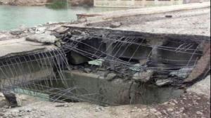 """""""داعش"""" يفجر الجسر الرابع على نهر دجلة بالموصل"""