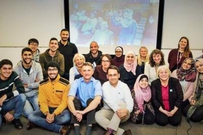 أول طالب أوروبي تستضيفه الجامعة الإسلامية في قطاع غزة ضمن برنامج ايراسموس بلس