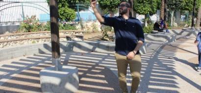 """خاص لـ""""وطن"""" بالفيديو : أبو دية من غزة .. يصحب المتابعين عبر """"سناب شات"""" إلى كافة المدن الفلسطينية"""