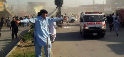 عشرات القتلى والجرحى في تفجير استهدف سوق بباكستان