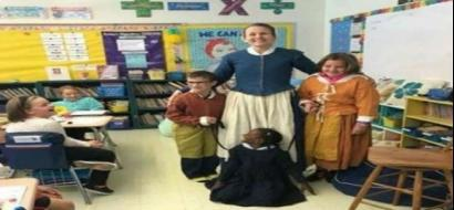 لتجسيد العنصرية في أمريكا ...وضع رسن في عنق فتاة داكنة البشرة يثير الغضب!