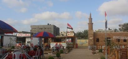 """خاص لـ""""وطن"""" بالفيديو..  القاهرة في غزّة .. مجسم لمصر الفرعونية والحديثة"""