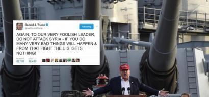 كيف لحس ترامب كلامه السابق عن ضرب سوريا؟