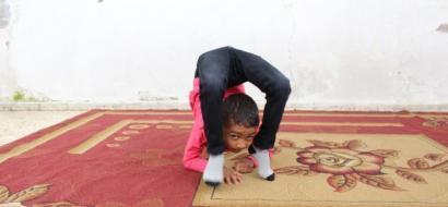 """خاص لـ """"وطن"""" بالفيديو .. غزة :  الطفل وائل""""عنكبوت جديد"""" يحلم بتمثيل فلسطين دوليًا"""