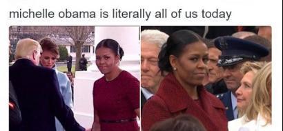 هكذا نظرت ميشال أوباما إلى عائلة ترامب..