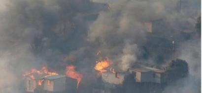 حريق يلتهم قرابة 100 بيت في تشيلي