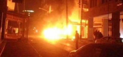 انفجار سيارة ملغومة بوسط طرابلس قرب السفارة الإيطالية